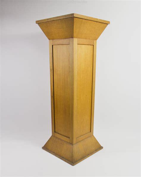 Oak Pedestal light oak pedestal antiques atlas