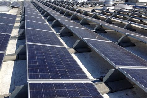 solar panels on commercial solar panel installation rooftop solar company