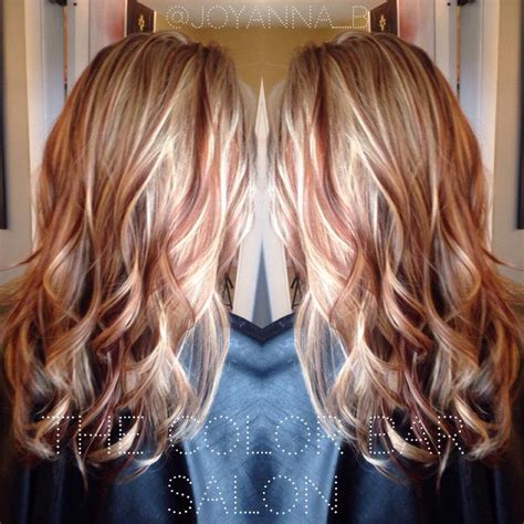 hairstyles of copper blonde hivhlights red and blonde blonde and copper the color bar salon