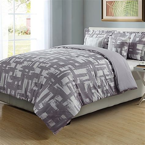 check comforter set in lilac white bed bath beyond