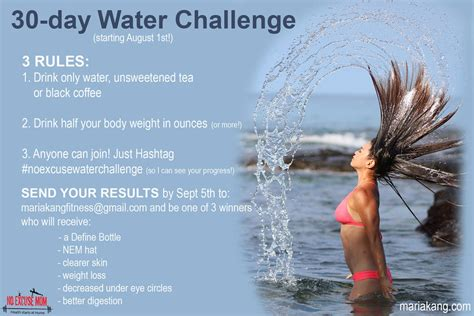 30 day water challenge results no excuse water challenge 2015 results no excuse