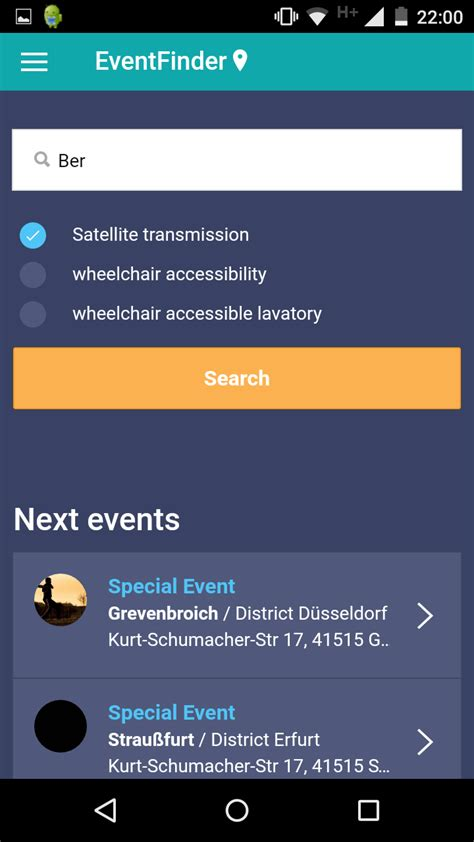Ionic App Resume Event Event App And Maps Ionic Marketplace