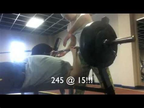 bench press 245 105 245 teen chad brown s huge bench press progress youtube