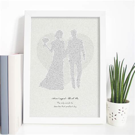 Wedding Song Print by Wedding Song Typographic Lyrics Print By Mixpixie