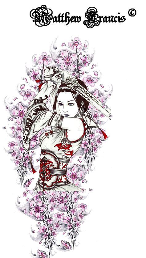 traditional geisha tattoo flash geisha tattoo by matthew cawthrone on deviantart