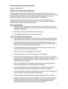 description resume sles resume retail sales associate description sales