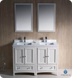 Rectangular Undermount Bathroom Sink Fresca Oxford 48 Quot Double Sink Bathroom Vanity Antique