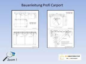 Bauplan Zeichnen bauanleitung carport