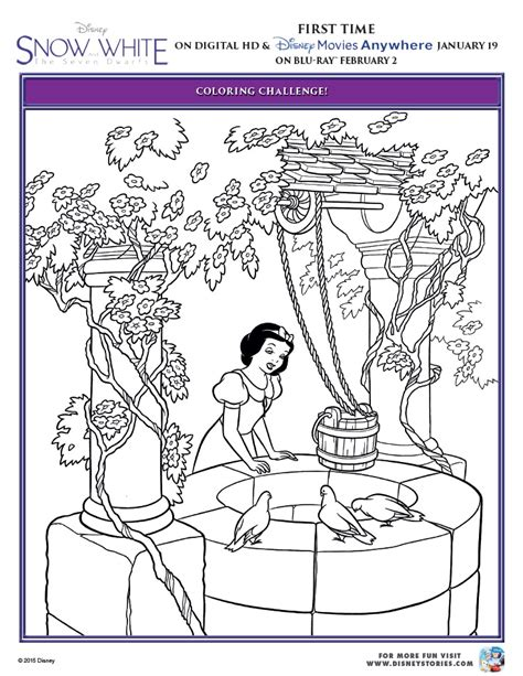 Coloring Page Challenge by Snow White And The Seven Dwarfs Printable Coloring Pages