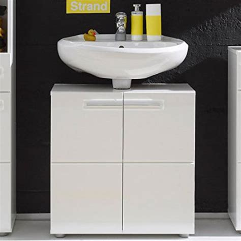 bora vanity cabinet in white with high gloss fronts 24829