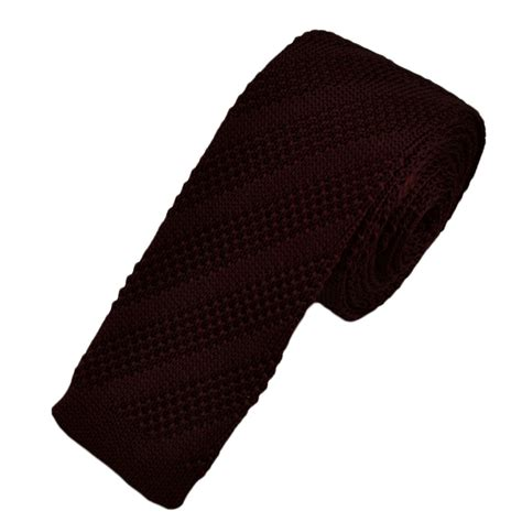 burgundy knitted tie from ties planet uk