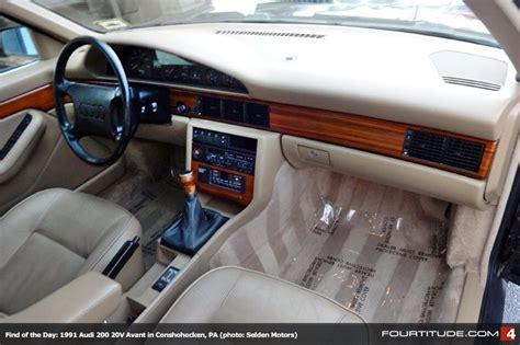 car engine repair manual 1989 audi 200 interior lighting find of the day unmolested 1991 audi 200 turbo quattro avant in conschohocken pa fourtitude com