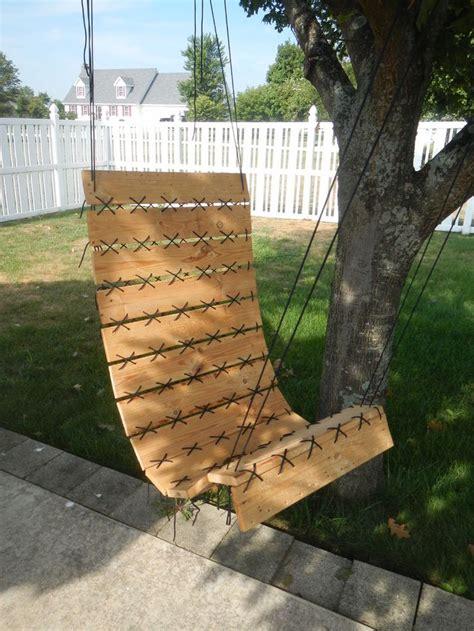 siege en palette diy un fauteuil suspendu avec du bois de palette