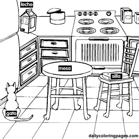 coloring page of a kitchen coloring pages kitchen only coloring pages