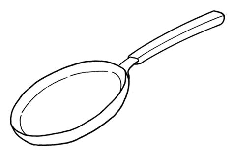 Cute Frying Pan Coloring Coloring Pages Pan Coloring Page