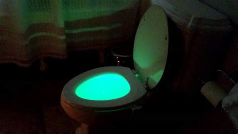 toilet light led light bowl toilet light review youtube