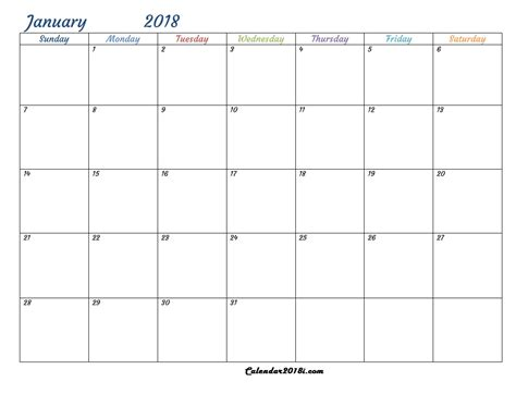 2018 calendar template for word word printable calendar 2018 calendar 2018