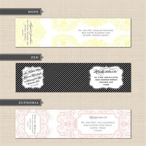 wedding address labels template belletristics stationery design and inspiration for the