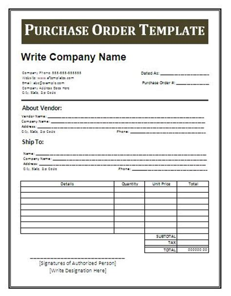 purchase order letter template purchase order sle and letter template for your
