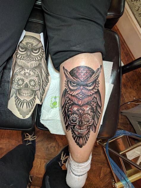 owl tattoo gun owl tattoo done by freddy top gun tattoo reading