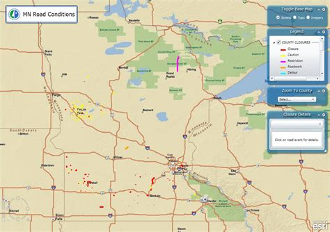 road closures map mn flooding maps geographic data