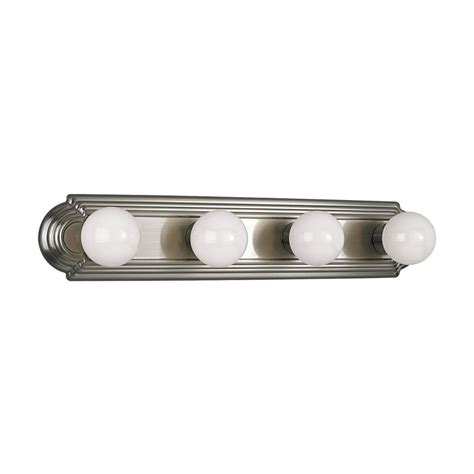 bathroom lighting brushed nickel finish progress bathroom light in brushed nickel finish p3025