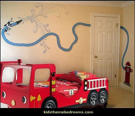 firefighter bedroom decor decorating theme bedrooms maries manor fire truck
