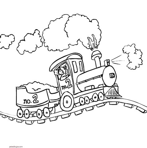 imagenes para colorear un tren dibujos de trenes para colorear