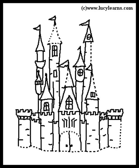 easy cinderella castle coloring pages