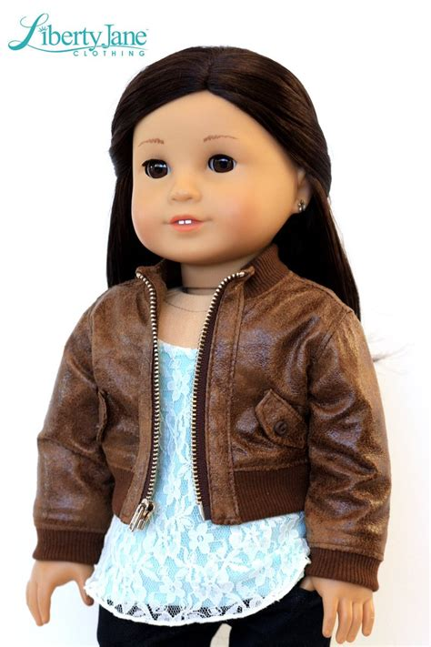 Jaket Boomber 18 liberty bomber jacket 18 inch doll clothes pattern pdf pixie faire