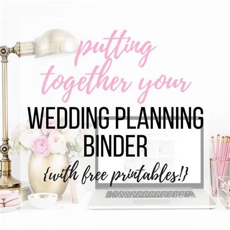 printable wedding planning binder putting together your wedding planning binder free