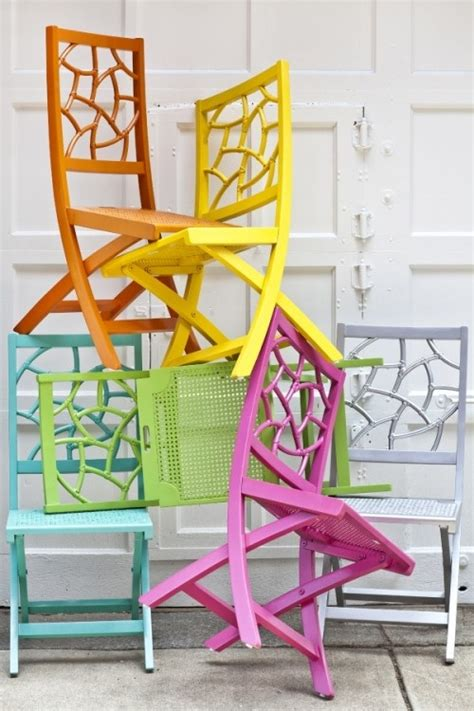 fifi folding chair in bright colours bold brights