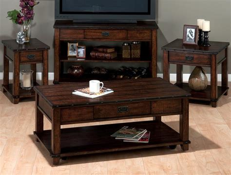 Distressed Coffee Table Set Jofran 561 1 4 Plank Top Coffee Table Set In Distressed Treatment Beyond Stores