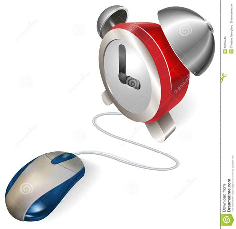 Hybrid Alarm Clock Concept by Mouse And Alarm Clock Concept Stock Photo Image 19005440
