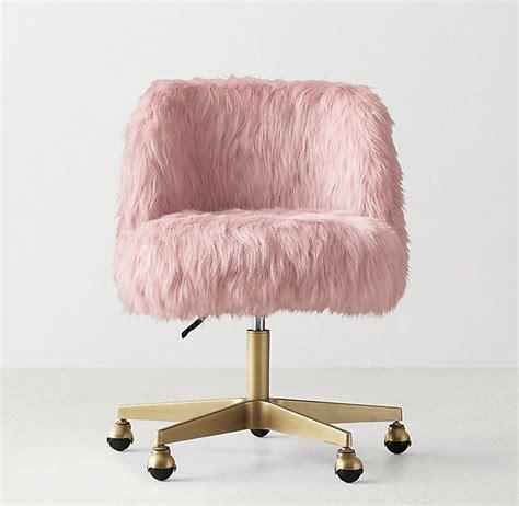 white faux fur desk chair alessa dusty rose kashmir faux fur desk chair antiqued