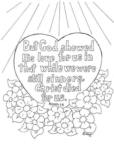 Romans 8 Coloring Page coloring pages for by mr adron romans 5 8 coloring