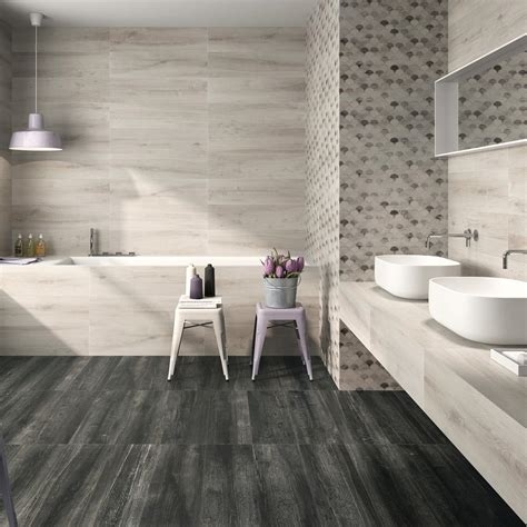large bathroom tile beautiful bathroom love wooden vanity large grey tiles apinfectologia