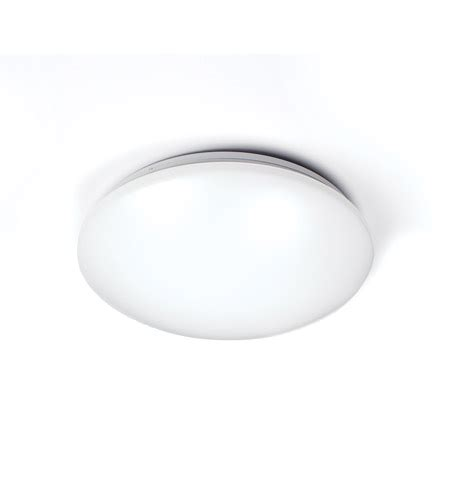 glo led 17 inch white ceiling wall mount ceiling light in