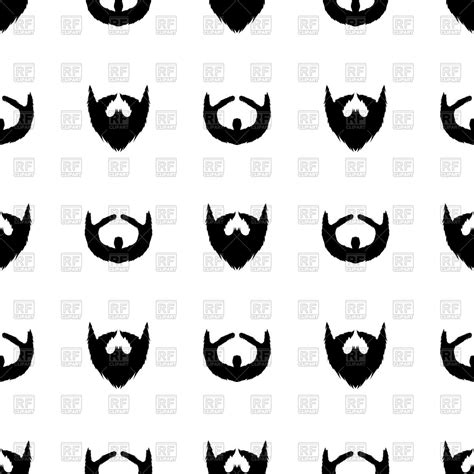pattern silhouette vector beard clipart cliparts galleries