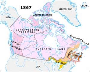map of canada 1867