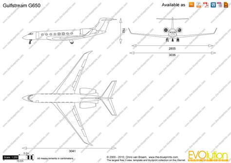 Drawing Blueprints the blueprints com vector drawing gulfstream g650