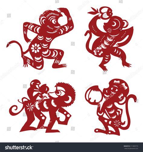 new year monkey birth years monkeychinesepaperyearnewcutsymbol