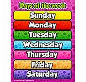Days Of The Week Poster  Chatorioles