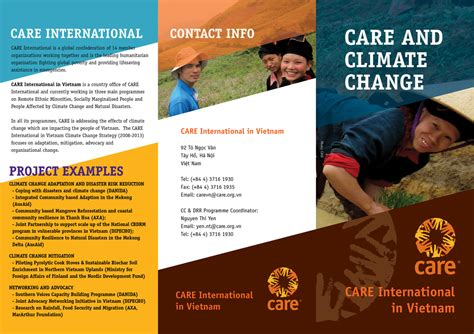 Care Graphic Design Vinh Dk Climate Change Brochure Template