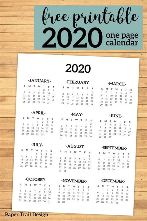 calendar  printable  page calendar   glance calendar printable planner