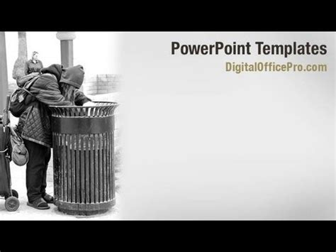 Powerpoint Themes Free Download Poverty   homeless and hungry powerpoint template backgrounds