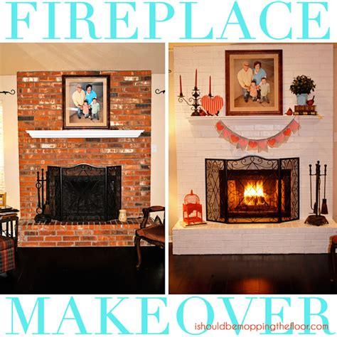 painted brick fireplace makeover how i should be mopping the floor fireplace makeover in a day