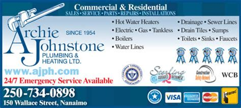 Archie Johnstone Plumbing And Heating by Archie Johnstone Plumbing Heating Ltd 113 Gava Place Nanaimo Bc