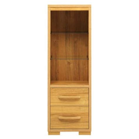 caxton furniture strand small display cabinet in oak