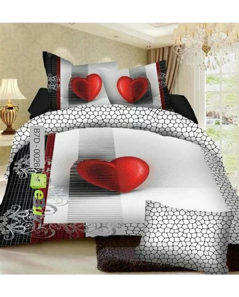 bed sheets online buy red heart rock design 7d bed sheets online in pakistan